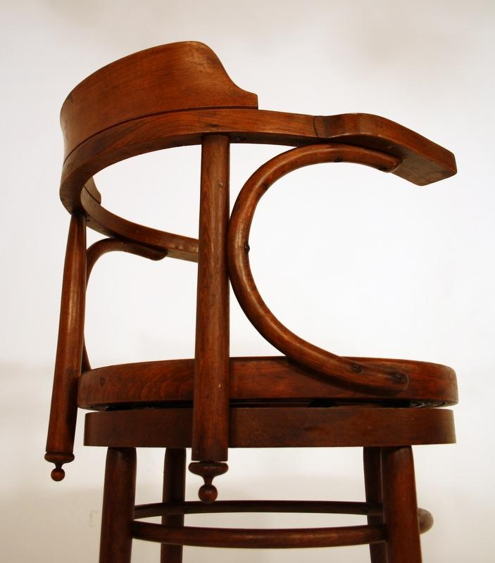 Art Deco Rotatable Chair Chaise Bernkop Thonet Style On