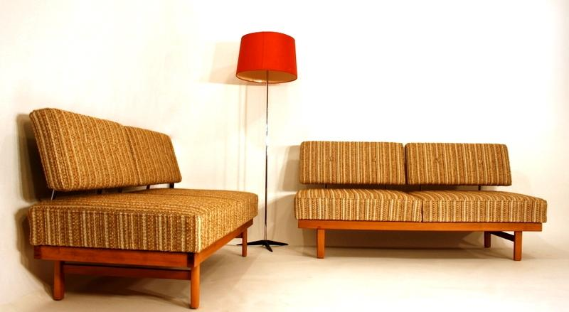 knoll style daybed sofa couch transform 60s 60er a 60 ebay. Black Bedroom Furniture Sets. Home Design Ideas