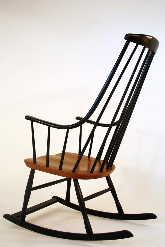 Rocking chair 50s schaukelstuhl roland rainer vienna for Rocking chair schaukelstuhl
