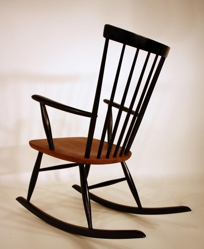 Rocking chair 50s schaukelstuhl m p roland rainer for Rocking chair schaukelstuhl