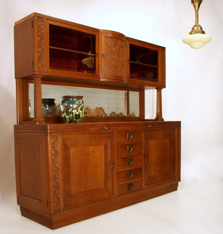 scuola koloman moser nouveau buffet kredenz cabinet art nouveau credenza ebay. Black Bedroom Furniture Sets. Home Design Ideas