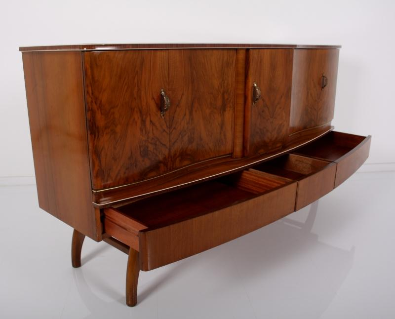 Magic bar sideboard 50er beautility a 50 50s root wood for Sideboard 50er