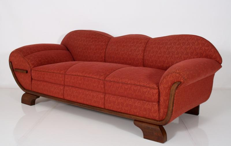 Art Deco Sofa Canap 233 Red Original Coverings Amp Upholstery